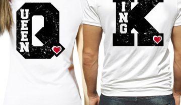 magliette king e queen prezzo