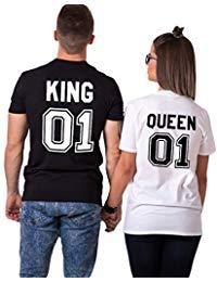 maglietta king queen online